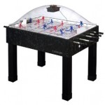 Carrom bubble and rod hockey table